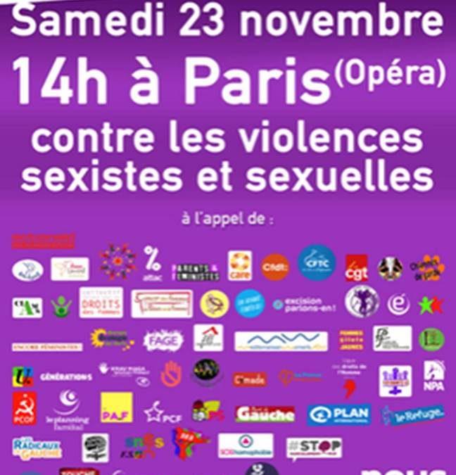 Le Centre participera à la marche du 23 Novembre 2019